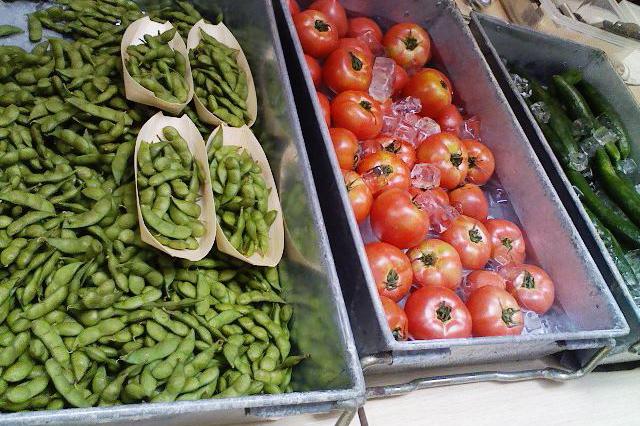 夏野菜たちがお出迎え。